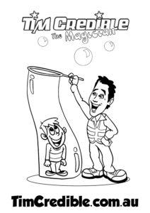 Tim Credible Kid in Bubble