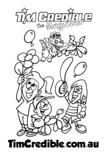Balloon Workshop Colouring in Sheet